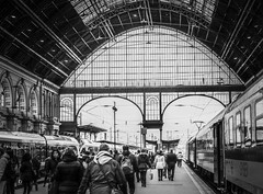 Budapest in black and white (PhotoFreakx) Tags: fuckyou hungary budapest europe blackandwhite trainstation train bw