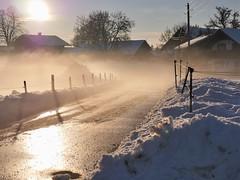Unser Dorf soll schöner werden (flori schilcher) Tags: schilcher nebel dorf sundowner srase schnee winter