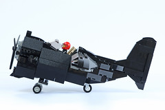 BR-1 Pint of Stout, side view (Ron and Co. Bricks) Tags: lego build bricks play toy afol moc myowncreation custom minifigure aeroplane aircraft airplane plane propeller fantasy steampunk