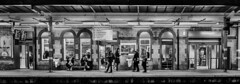 Platform 1 (+Pattycake+) Tags: streetphotography rail winter street people moon platform waiting offseason candid publictransport winterseaside signs eastcoast blackandwhite ipswich monochrome railwaystation 10dec18 seaside