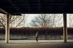 Street geometry (vlkvaph) Tags: sunny longhair human cinematography cinematic melancholic melancholy atmospheric atmosphere mood female woman 50mm warm spring light street model girl canonukraine canon6d photography photo geometry