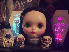 Haunting Head (Josie&theKILLER_DOLLS) Tags: creepy skulls restored hybrid limited translucent pop nostalgic takara head blythe