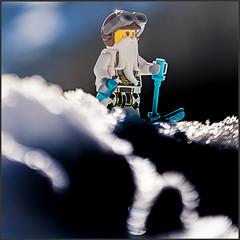 Sensei Wu on ski vacation... (genelabo) Tags: snowshoeing chiemgau sachrang winter snow schnee geigelstein mountain alps berge prientales bayern deutschland old ritzgraben wildbichl sun lego minifigure minifig toy meister sensei wu skiing ski lensbaby sony 6300 quadrat spuare ninjago spinjitzu