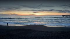 Alone at Sharp Park (JINfotografo) Tags: sharppark pacifica california pacificocean sunset twilight beach fishing fishingpier coastside wallpaper