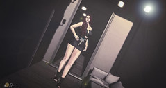In Dressing Room... (мαle вloɢɢer / ғeмαle вloɢɢer) Tags: blog catwa astralia stealthic black opium kc backdrop