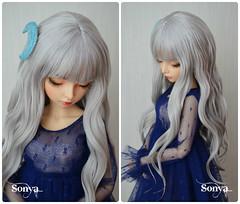 "Wig for MNF ""Mystical Moon"" (sonya_wig) Tags: fairytreewigs wig bjdwig minifeewig bjd bjdminifee handmadedoll bjddoll dollphoto fairyland fairylandminifee minifee bjdphotographycoloringhair"