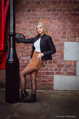 Swinging on the lamp post (Neil Adams Photography (Wirral)) Tags: portrait female young model sensual beautiful elegant stunning outdoors outdoor