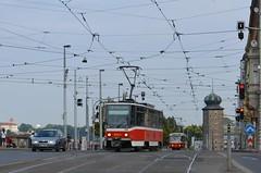 Tatra T6A5 #8694 & Tatra T3R.P #8227 (LukaszL99) Tags: praha prague prag praga tram trams tramwaje tramvaj tramvaje strasenbahn strasenbahnen tatra ckd čkd dp t6 t6a5 t3 t3rp pid czechy tschechien czechia česko