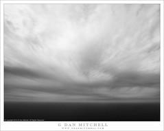 Pacific Vortex (G Dan Mitchell) Tags: bigsur pacific ocean horizon clouds dramatic vortex patternsswirling seascape nature landscape storm sky blackandwhite monochrome california usa north america