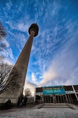 Look Up (orkomedix) Tags: canon eosr samyang 14mm wide angle munich germany olympic tower perspective olympiapark outdoor walk sunday architecture