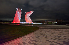 Red Sky At Night (captures.in.time) Tags: scotland urban city photography culture kelpies kelpie canal scottishcanals britishwaterways andyscott night nightphotography landscape landscapephotography cityscape falkirk grangemouth urbanphotography longexposure canon 1740 lseries visitscotland thisisengineering steel structure sculpture lights lit horse equine waterhorse water le ngm ngc travel