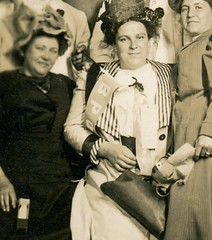 Hearty Partiers (Cropped) (Alan Mays) Tags: ephemera postcards realphotopostcards rppc photos photographs foundphotos portraits studiophotos men women clothes clothing suits ties bowties neckties dresses hats partyhats parties ratchetnoisemakers ratchets noisemakers partiers pennants banners flags masks purses newyear newyears newyearsday january1 bpoe benevolentandprotectiveorderofelks elkslodge elks fraternalorganizations fraternalgroups fraternal clubs organizations groups societies associations blurry flawed antique old vintage vptp noveltystudio seattle wa wash washington photographers studios