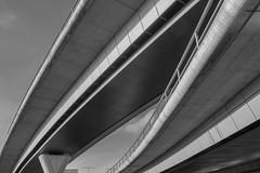 Highway Bridges (Récard) Tags: abstract architecture architektur blackandwhite sw curves concrete
