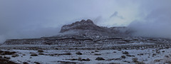 Wintry Vermillion Cliffs (CraDorPhoto) Tags: canon5dsr landscape mountains cliffs cloudy foggy winter snow usa arizona nature outdoors