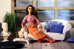 anjali & wes (photos4dreams) Tags: dress barbie mattel doll toy photos4dreams p4d photos4dreamz barbies girl play fashion fashionistas outfit kleider mode puppenstube tabletopphotography diorama scenes 16 canoneos5dmark3 madetomove mtm darkhair dunkelhaarig