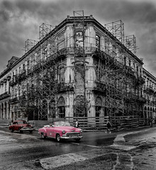 Cuba Havana American Car -3 (jdl1963) Tags: cuba havana travel nikon d810 decay american car 1950s building architecture bw black white blackandwhite mono monochrome