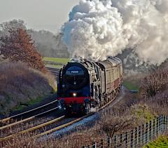 brittannia (midcheshireman) Tags: steam train locomotive mainline cheshire 70000 britannia