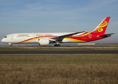B-1342, Boeing 787-9 Dreamliner, 62723 / 646, Hainan Airlines, CDG/LFPG 2018-12-26, taxiway Bravo-Loop, on the way back to Chongqing-Jiangbei (CKG/ZUCK). (alaindurandpatrick) Tags: b1342 62723646 787 789 7879 boeing boeing787 boeing7879 dreamliner boeing787dreamliner boeing7879dreamliner jetliners airliners hu chh hainanair hainanairlines airlines cdg lfpg parisroissycdg airports aviationphotography