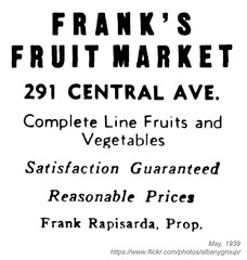 1939 frank's fruit market (albany group archive) Tags: albany ny history 1939 franks fruit market frank rapisarda central avenue old vintage photos picture photo photograph historic historical 291 1930s