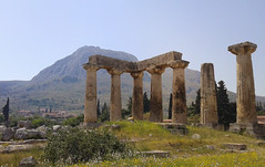 Temple of Apollo | Ancient Corinth (born to be an artist) Tags: architecture greece acrokorinthos ancientkorinth templeapollo