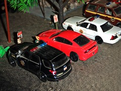 NO PARKING  4/14/2019 (THE RANGE PRODUCTIONS) Tags: greenlight matchbox fordexpedition fordcrownvictoriapoliceinterceptor fordpoliceinterceptorutility dodgecharger dioramas diecast diecastdioramas 164scale toy model hoscalefigures display