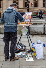Street Art With A Difference (Fermat 48) Tags: albertsquare normanlong streetart artist painting oils thenorthernboys red'struebarbecue restaurant lloydstreet southmillstreet manchester canon eos 7dmarkii