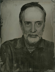 Wet Collodion Portrait (!Michel Grenier!) Tags: forehead processusancien portrait ancientprocess front art typedemétal collodionhumide tintype gentleman deardorff monsieur moustache wetplate wetcollodion ferrotype