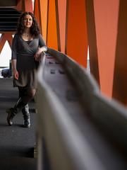 Laura, Rotterdam 2019: Nonchalance (mdiepraam) Tags: laura rotterdam 2019 portrait pretty attractive beautiful elegant classy gorgeous dutch brunette girl woman lady naturalglamour curls coat scarf boots stockings tights nylons