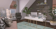 Office Space (not the movie! ;) (Trixie Lanley) Tags: mudhoney fameshedx onsu secondlife office attic homedecor fancydecor vespertine architect kustom9