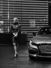 Line on Design (timmerschester) Tags: model vehicle show event detroit naias michigan january 2019 winter monochrome