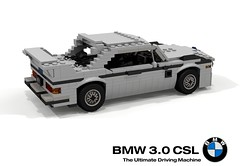 BMW E9 3.0 CSL (1972) (lego911) Tags: bme e9 csl 1972 1970s classic coupe racer 30 touringcar lightweight german germany auto car moc model miniland lego lego911 ldd render cad povray afol batmobile