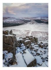 Winter Morning (Rich Walker Photography) Tags: sharpitor dartmoor devon landscape landscapes landscapephotography wnter snow rock sky morning dawn canon england efs1585mmisusm eos eos80d