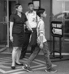This Way (Beegee49) Tags: street people looking this way blackandwhite monochrome luminar bw sony a 6000 bacolod city philippines asia