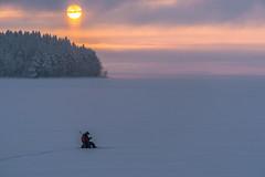 kalastaja jäällä aamulla (VisitLakeland) Tags: finland kallavesi kuopio kuopiotahko lakeland fishing icepishing järvi lake lumi luonto maisema nature outdoor pilkintä pilkki scenery snow talvi winter winterfishing