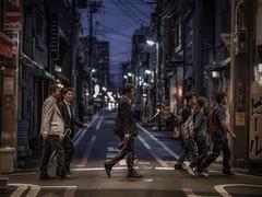 Kyoto Road (karinavera) Tags: 85mm street japan kyoto people city longexposure night photography urban ilcea7m2 sunset