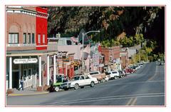 Main Street in Small-Town Ouray, Colorado - 1984 (sjb4photos) Tags: epsonv500 colorado ouray