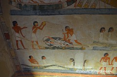 Baots and sacrifices (konde) Tags: tt69 18thdynasty menna newkingdom tomb tombpainting ancientegypt luxor thebes art architecture mythology netherworld hautamaalaus boat stele stela