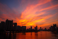 City fire (kevinho86) Tags: 24mm eos6d canon canton colour city cityscapes cloudy skyline 空 sky sunset urban 雲 magichour 城市 天空 guangzhou landscape scenery scape downtown 建築 twilight wideangle water 天際線 art 都會