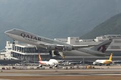 Qatar Airways Cargo (So Cal Metro) Tags: airline airliner airplane aircraft plane jet aviation airport hongkong hkg
