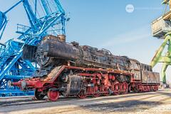 A job well done (BackOnTrack Studios) Tags: dr 50 3670 36702 dampflok dampflokomotive steam locomotive loco unloading floating crane titan drb railways train lok bulgaria ruse port danube