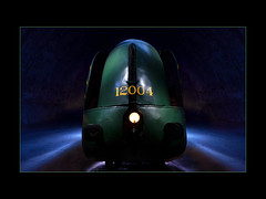 Train 12004 (philippeprovost1) Tags: train musée vert nuit night minimaliste insolite abstract abstrait