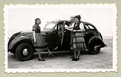 "Peugeot 402 B (Vintage Cars & People) Tags: vintage classic black white ""blackwhite"" sw photo foto photography automobile car cars motor peugeot peugeot402 fancydress dress skirt carnaval carnival malolesbains"