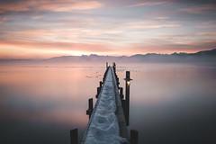 Chiemsee, Bavaria (Sunny Herzinger) Tags: chiemsee dedeutschland deutschland sunrise herkunft europa chiemgau mist germany bavaria fog jetty bayern alps clouds seeonseebruck de