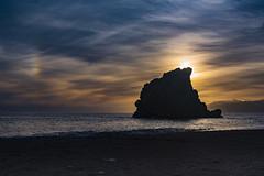Atardecer  Peñón del Cuervo (Antonio P. O.) Tags: málaga andalucía atardecer playa agua cielo water sea sly mediterráneo peñón cuervo mar