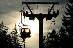Bergauf und bergab (tineArt) Tags: ochsenkopf fichtelgebirge naturpark fichtelsee schwebebahn winter lichtstimmung bayern oberfranken