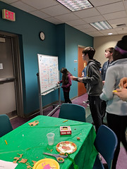 MVIMG_20190314_163828 (Billerica Public Library's Photostream) Tags: billericapubliclibrary youngadultprogram pie day pi table talk 314