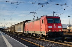 Cargo Express 🚆 (Martin Bärtges) Tags: d7000 nikon nikonphotography nikonfotografie br185 sonnenlicht sonne sonnenschein sunlight sunshine sun frühjahr frühling spring blau himmel blue sky bahnhof station deutschland germany neuwied outdoor outside drausen farbenfroh colorful rot red deutschebahn db transportation transport warentransport güterzug frachtzug fracht cargo trainspotting train