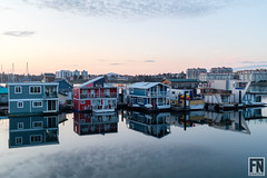 DSCF4414 (FNshutter) Tags: fujifilmx100f x100f water float homes reflection clouds dusk calm victoria bc
