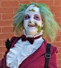 Beetlejuice re-enactor (sharon'soutlook) Tags: portrait makeup greenhair greenwig bowtie smile horrorhoundweekend cincinnati 2019 beetlejuice