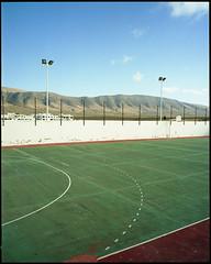 Lanzarote stadium 2. Caleta de Famara (AntoineLegond) Tags: stadium composition mamiya7ii 65mm mediumformat 120mm film analogue kodak portra caletadefamara lanzarote canaryislands